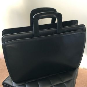 ***SOLD*** ELEMENTS Jack Georges Leather Briefcase